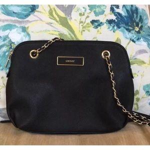 DKNY Black Saffiano Leather Purse